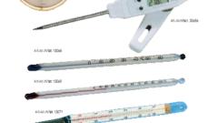Higrometras. Įvairūs termometrai. Druskos matuoklis